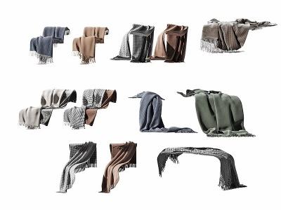 現代布藝布巾圍布造型模型3d模型