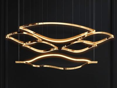 現代簡約吊燈LED燈模型3d模型