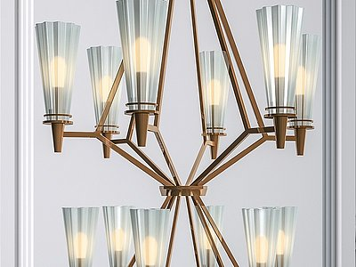 現代簡約吊燈模型3d模型