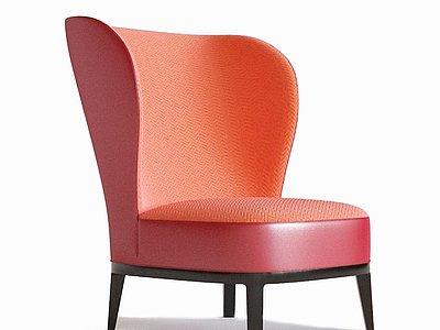 現代紅色沙發椅模型3d模型