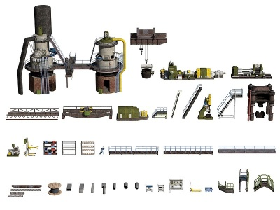 3d工業設備機器貨架<font class='myIsRed'>工具</font>模型