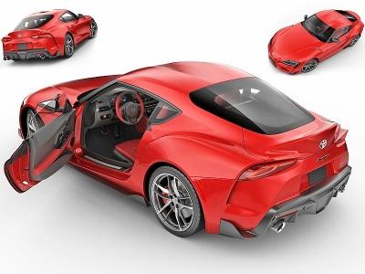 現代豐田超級跑車模型3d模型