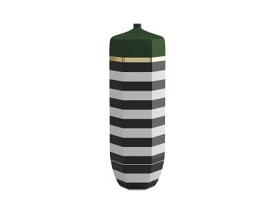 中式插花瓶瓷器裝飾品模型3d模型
