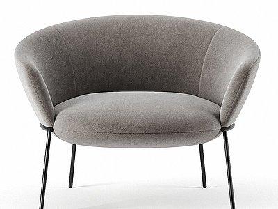 現代沙發椅單人沙發模型3d模型