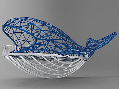 鋼結構景觀臺模型