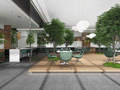 現代咖啡廳模型3d模型