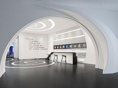 臨沂高新區規劃展廳前臺模型3d模型
