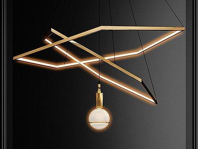 現代吊燈模型3d模型