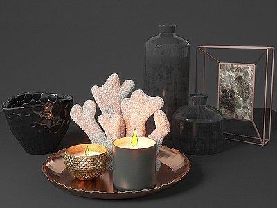 現代裝飾擺件蠟燭模型3d模型
