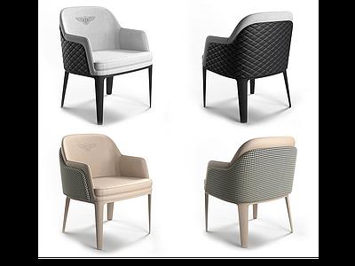 現代休閑沙發椅單椅模型3d模型