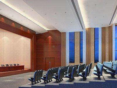 現代學校報告廳多功能廳模型3d模型