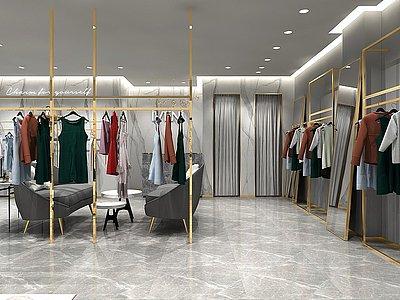 商場服裝店高淳店模型3d模型