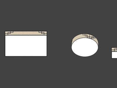 中式簡約吸頂燈吊燈模型3d模型