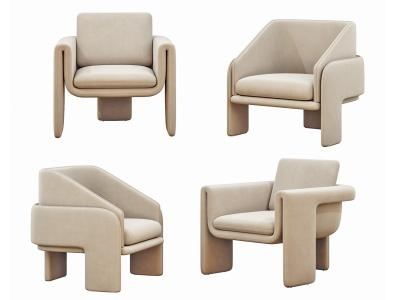 現代休閑沙發椅模型3d模型