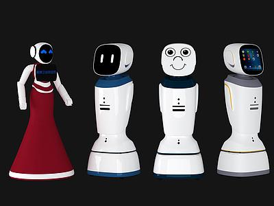 3d人工<font class='myIsRed'>智能機器人</font>模型