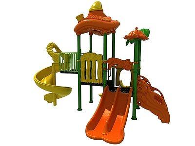 魔法滑梯兒童游樂設施3d模型