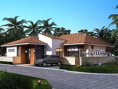 泰式獨棟別墅模型3d模型
