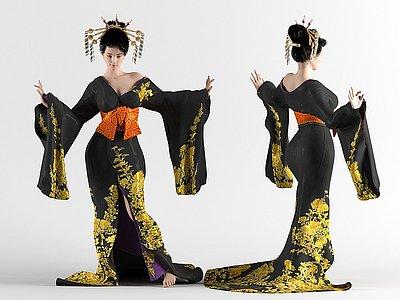 漢服古典美女模型3d模型