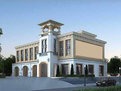 歐式公建酒店模型3d模型