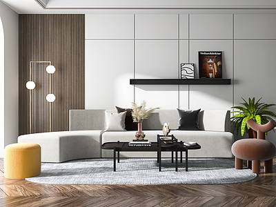 布藝沙發模型3d模型