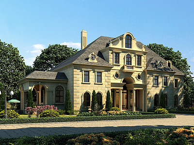 歐式別墅會所模型3d模型