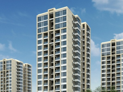 現代住宅樓模型3d模型