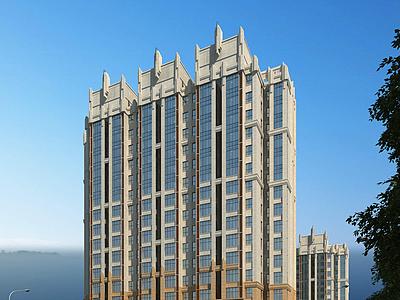 歐式住宅樓模型3d模型