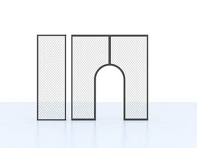 鐵絲網3d模型
