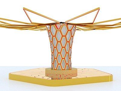 空間造型能量柱3d模型