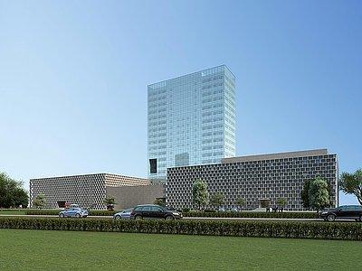現代商場綜合樓模型3d模型