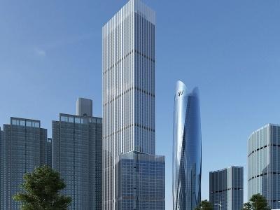 現代辦公樓商業模型3d模型