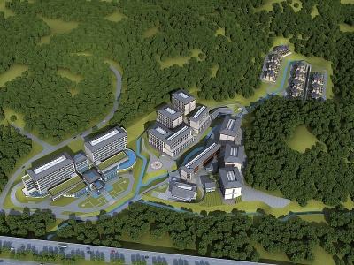 酒店度假村規劃模型3d模型