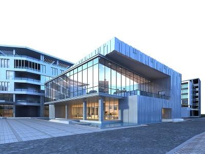 展廳廠房模型3d模型