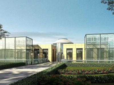 花園玻璃大棚模型3d模型