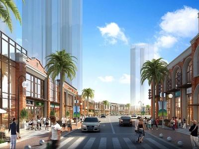 商業街模型3d模型