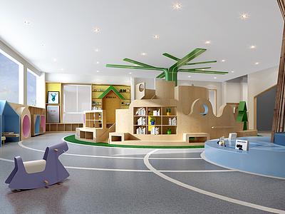 現代育兒園模型3d模型