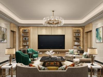 歐式客廳模型3d模型