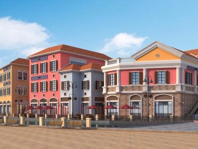 簡歐商業街模型3d模型
