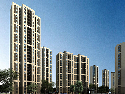簡歐住宅樓模型3d模型