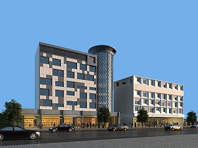 現代辦公樓模型3d模型