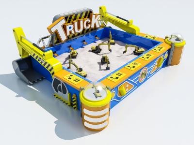 現代游樂設備模型3d模型