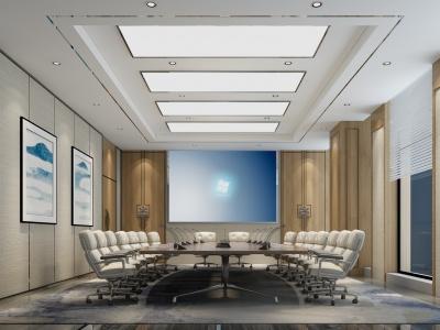 中式風格的會議室模型3d模型