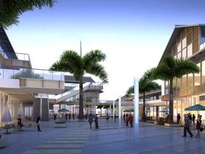 現代商業商業街模型3d模型
