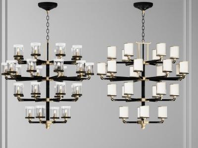 新中式吊燈模型3d模型
