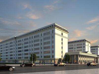 古建公建辦公樓模型3d模型