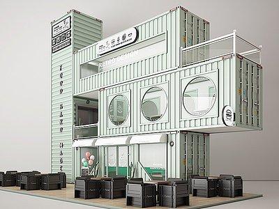 集裝箱快餐店咖啡廳3d模型