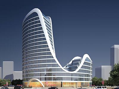 異形辦公樓模型3d模型