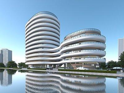 商業辦公樓商業綜合體3d模型