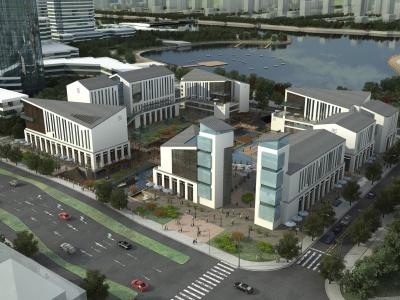 中式古建商業辦公樓模型3d模型