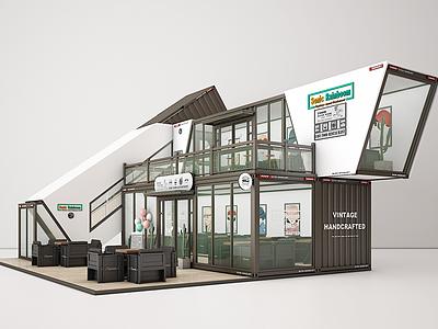集裝箱售貨亭咖啡廳3d模型